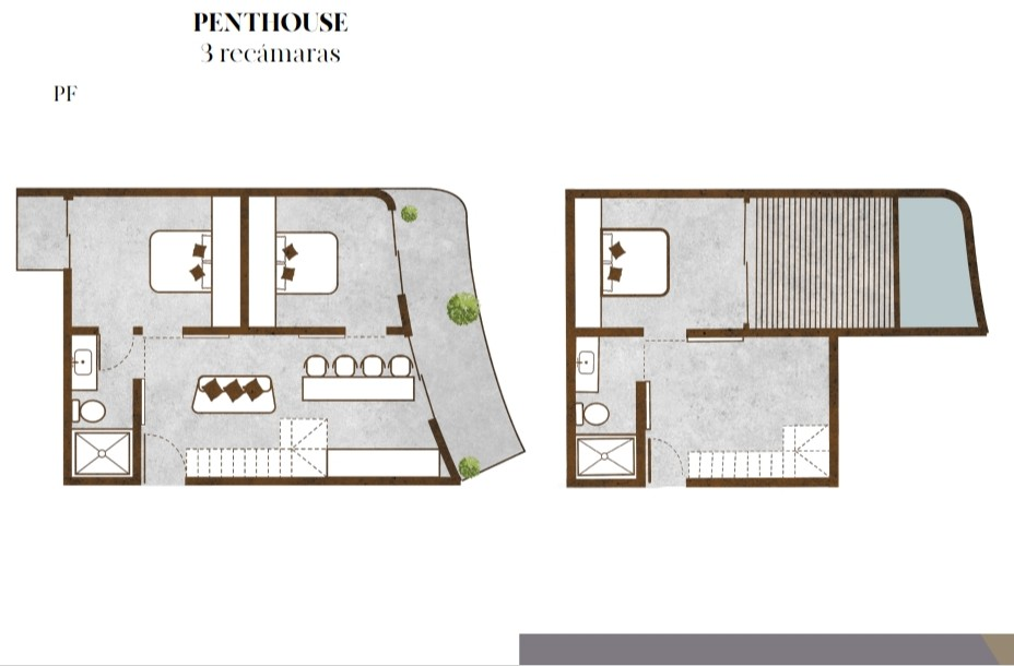 Tulum PhF 3 bdrm Pent house Apartment realtyinmexico